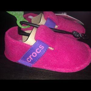 New girls soft crocs slippers